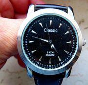 Edelstahl-Marken-Armbanduhr Unisex Lederarmband ungetragen top