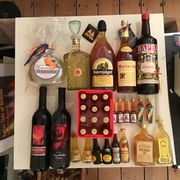 Silvester Party Getränke Konvolut Wein