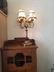 Verkaufe alte 4armige Tischlampe mit