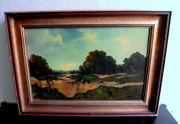 tolles Ölgemälde Gemälde Barbizon Frankreich