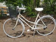 Vintage Fahrrad weiß als Teilelieferant