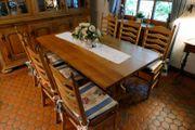 Tisch Eiche massiv Esstisch Stühle