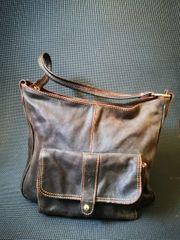 Lederhandtasche Braun
