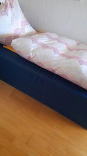 Schaumstoffliege -bett -couch dunkelblau