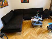 Hochwertiges Eck-Sofa schwarz zur Selbstabholung