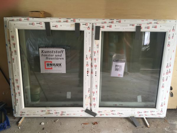 Kunststoff Fenster beidseitig weiß Glas