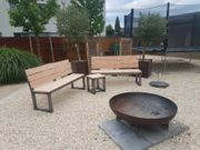 Gartenbank Gartenmöbel Feuerstelle Sitzbank