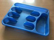 Besteckeinsatz Schubkasteneinsatz Besteckeinteilung Blau