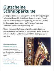 Gutscheine Schnupperkurs Musikunterricht in KA-Neureut