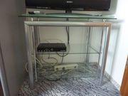TV Glastisch - Regal