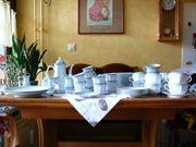 Mitterteich Kaffeeservice Suppentassen zartblau-weiß