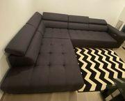 Couch Anthrazit mit elektr Schlaffunktion