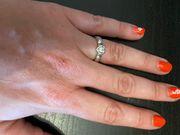 825 Silber Ring Herzform