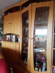 Wohnzimmerschrank Erle Front 2 m
