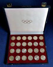Silber - Gedenkmünzen Olympiade 1972 in
