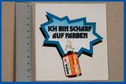 Agfa Aufkleber Sticker-ICH BIN SCHARF