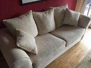 Komfortables SOFA Zweisitzer hellbeige