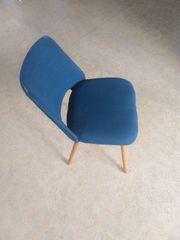 60s Polster-Stuhl aus Echtholz im