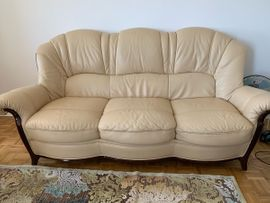 Polster, Sessel, Couch - LEDER COUCH