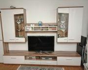 Wohnwand Schrankwand Vitrine Wohnungsauflösung Fernsehschrank