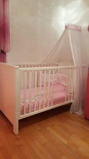 Gitterbett verwandelbar in Kinderbett