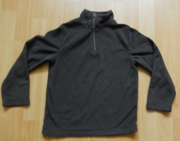 Fleece-Pullover grau Gr 128 L6 -