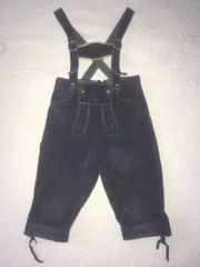 Süße dunkelblaue Lederhose - 110 cm -