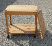 kleines Rollregal kleiner Rolltisch aus