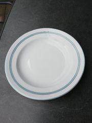 BLAURAND Platte groß rund 32cm