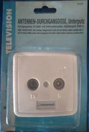 Antennendose Durchgangsdose Voltostar Unterputz weiß