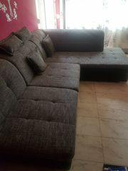 L-Form couch schwarz grau 270×300cm