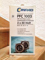 2 Autoradio Coaxial-Einbaulautsprecher