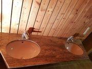 Marmor - Doppelwaschbecken