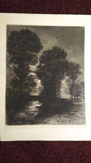 Bernhard Mannfeld Original-Radierung