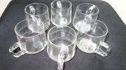 Bowlegläser 6 Stück aus Glas