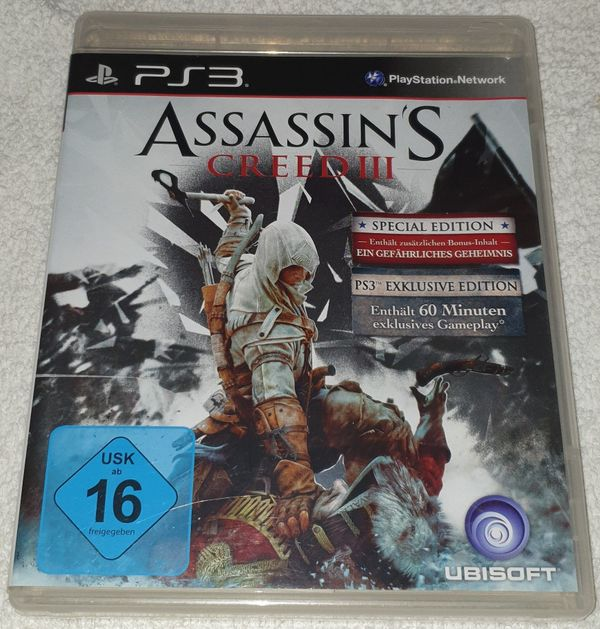 Für PS3 SPECIAL EDITION Assassin`s Creed 3