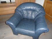 Sessel Rindsleder Farbe schwarz-blau sehr
