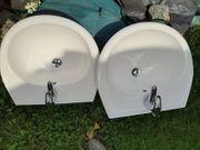 Waschbecken 2fach mit Wasserhahn sehr