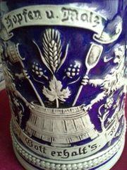 Historischer Staffel Bierkrug 60er Jahre