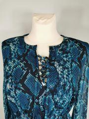 Aniston Partykleid blau bedruckt Gr