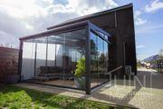 Komplettes Gartenzimmer Aluminium-Überdachung - niedrigster Preis