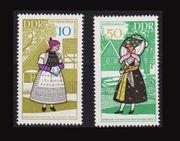 Postfrische DDR-Briefmarken von 1988 Historische