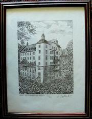 Wasserschloss Grafik von Werner Krawinkel