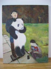 Acryl-Gemälde Pandabären-Wiegen