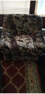 Älterer gebrauchter Zweisitzer u Sessel