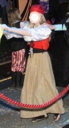 Kinderbekleidung - Piratenmädchen Piratin Kinder Karneval Fasching