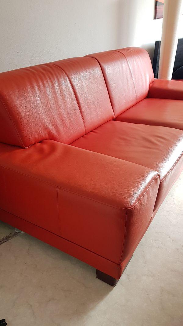 Candy Ledersofa Rot Orange In Karlsruhe Polster Sessel Couch