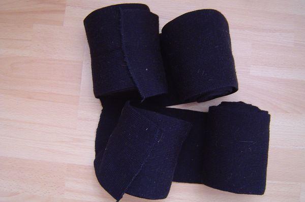 4er Set schwarze Strickbandagen