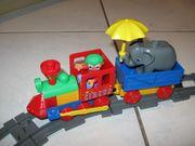 Lego Duplo Schiebezug mit Schienen