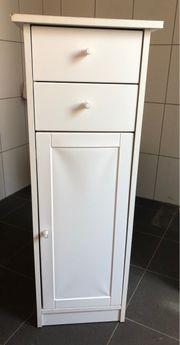 Beistell Schrank weiß 35x35x98